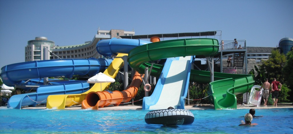 Sherwood Breezes pool slides